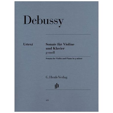 Debussy, C.: Violinsonate g-Moll