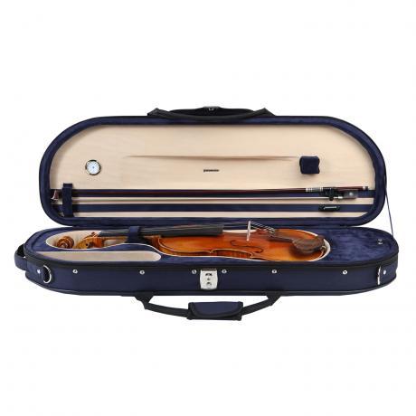 PACATO Mezza Luna Violinetui 4/4 | dunkelblau