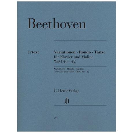 Beethoven, L. v.: Variationen, Rondo, Tänze