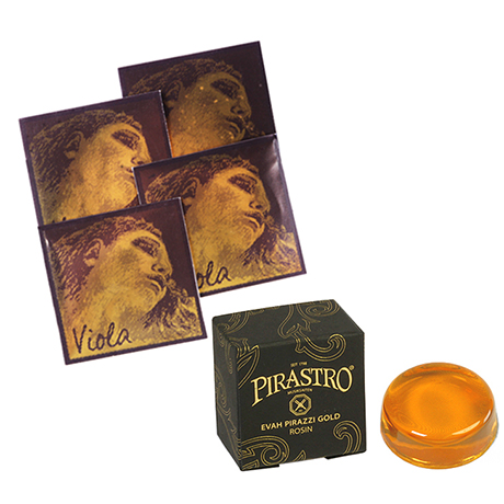 PIRASTRO Evah Pirazzi Gold Violasaiten SATZ + Kolophonium