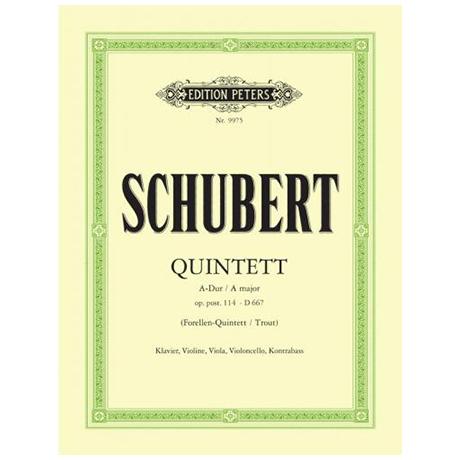 Schubert, F.: Klavierquintett A-Dur (Forellen), D 667, Urtext