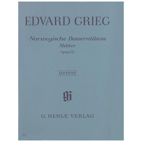 Grieg, E.: Norwegische Bauerntänze (Slatter) Op. 72