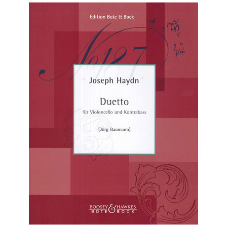 Haydn, J.: Duetto Hob VI: D1 D-Dur