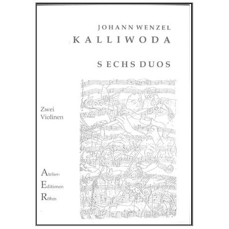 Kalliwoda, J.W.: 6 Duos für 2 Violinen