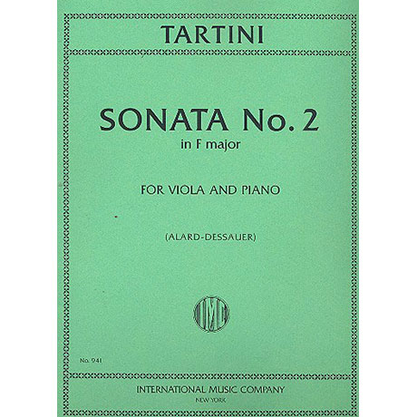 Tartini, G.: Violasonate Nr. 2 F-Dur
