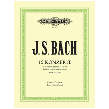 Bach, J. S.: 16 Konzerte BWV 972-987