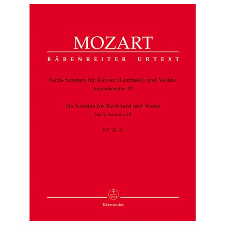 Mozart, W. A.: 6 Violinsonaten KV 26-31