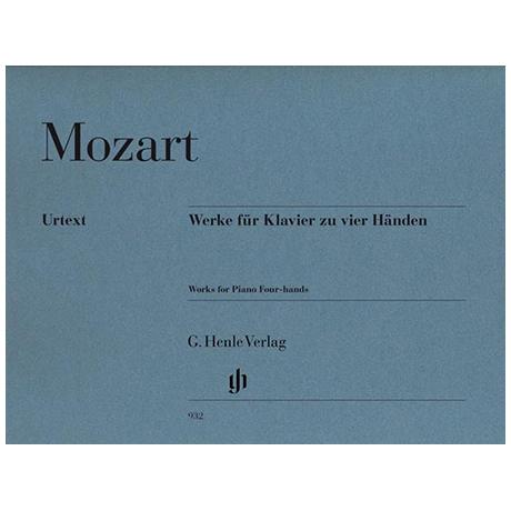 Mozart, W. A.: Werke für Klavier zu 4 Händen