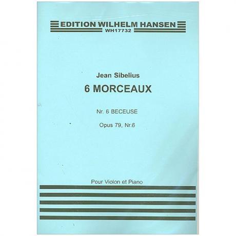 Sibelius, J.: Aus »6 Morceaux« Nr. 6 Berceuse Op. 79/6 (1917)