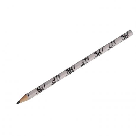 Bleistift Noten weiß