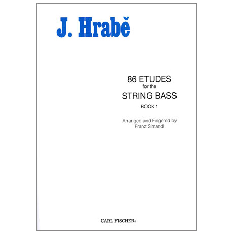 Hrabé, Josef: 86 Etudes for String Bass Book 1