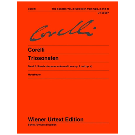Corelli, A.: Triosonaten Band 2 (Auswahl aus Op. 2 & Op. 4)