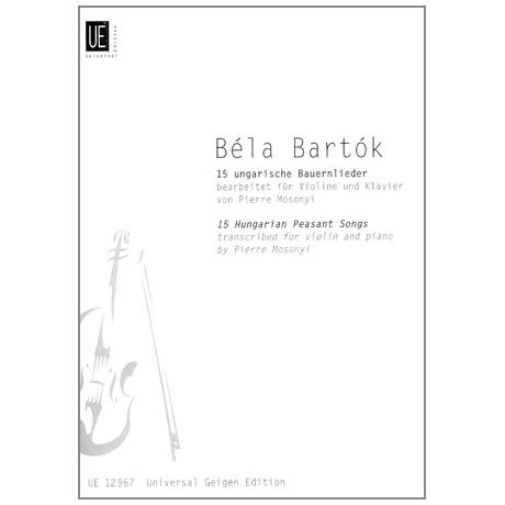 Bartók, B.: 15 ungarische Bauernlieder