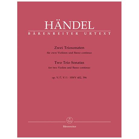 Händel, G. F.: 2 Triosonaten aus Op. 5