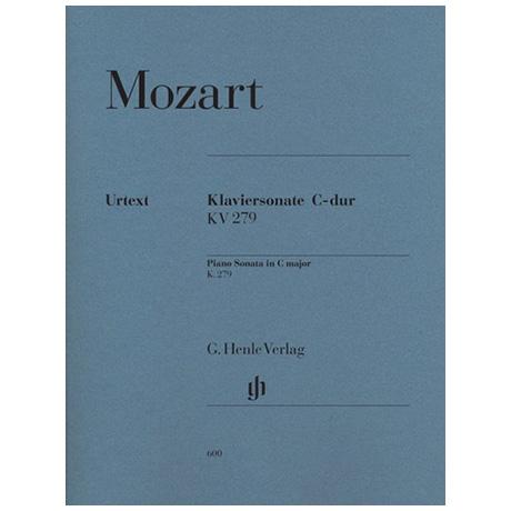 Mozart, W. A.: Klaviersonate C-Dur KV 279 (189d)