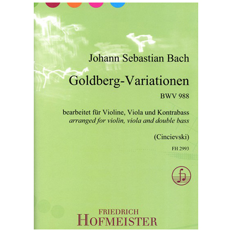 Bach, J. S.: Goldberg – Variationen