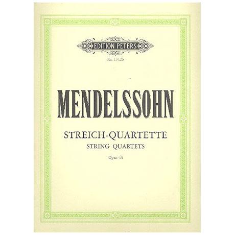 Mendelssohn Bartholdy, F.: Streichquartette Band 2: Op. 44/1-3