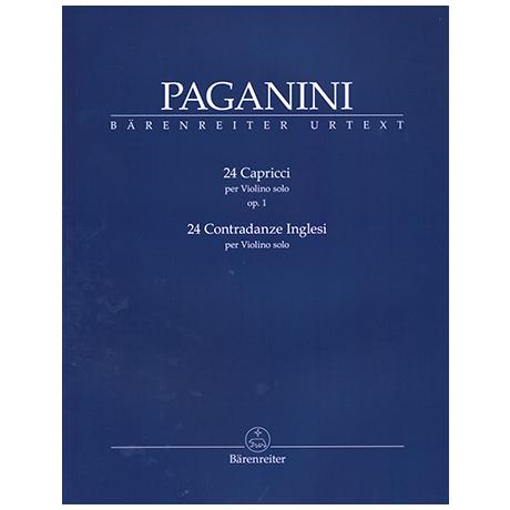 Paganini, N.: 24 Capricci Op.1 und Op.24 Contrandaze Inglesi
