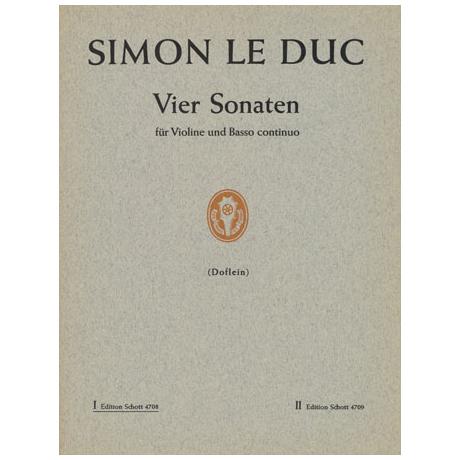 Leduc, S.: 4 Violinsonaten Band 1