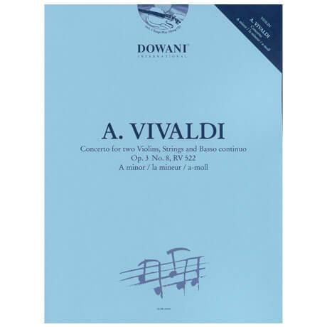 Vivaldi, A.: Konzert für 2 Violinen und Klavier Op. 3/8 RV 522 a-Moll (+CD)
