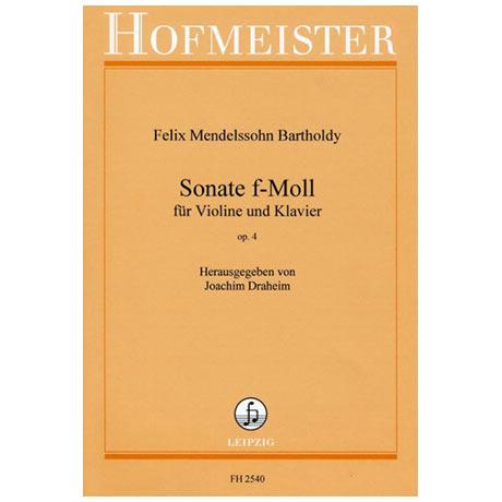 Mendelssohn Bartholdy, F.: Sonate f-Moll Op. 4