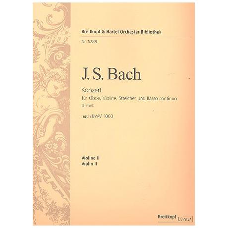 Bach. J.S.: Konzert d-moll nach BWV1060