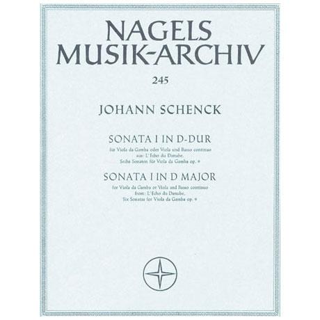 Schenck, J.: Violasonate »Sonata I aus L'Echo du Danube« D-Dur Op.9/1