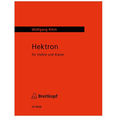 Rihm, W.: Hekton (1972)