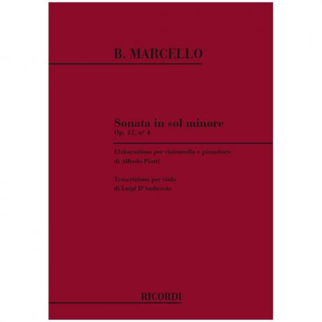 Marcello, B.: Violasonate g-Moll Op. 11/4