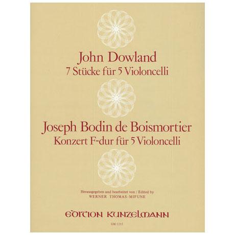 Dowland, J.: 7 Stücke / Boismortier, J. B. d.: Konzert F-Dur