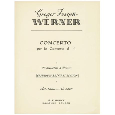 Werner, G. J.: Concerto per la Camera
