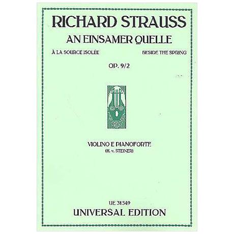 Strauss, R.: An einsamer Quelle Op. 9/2