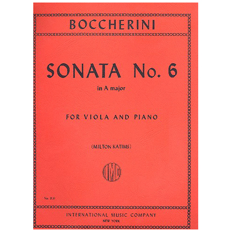 Boccherini, L.: Sonate Nr. 6 in A-Dur