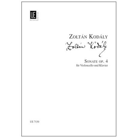 Kodály, Z.: Sonate Op.4