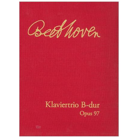 Beethoven, L. v.: Klaviertrio Op. 97 »Erzherzog-Trio« – Faksimile
