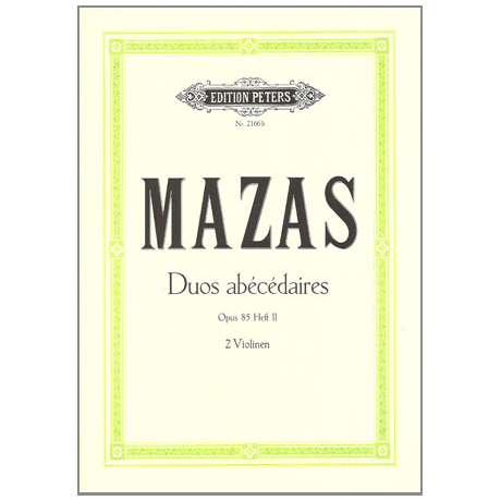 Mazas, J-F.: Duos abécédaires op.85 Band 2