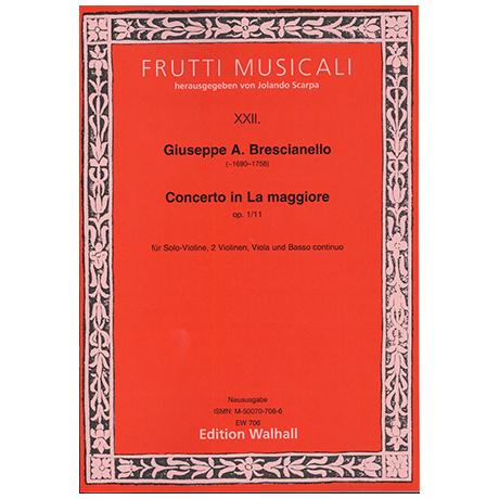 Brescianello, G.A.: Violinkonzert Nr. 11 Op. 1 A-Dur