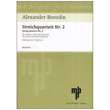 Borodin, A.: Streichquartett Nr. 2 D-Dur – Partitur