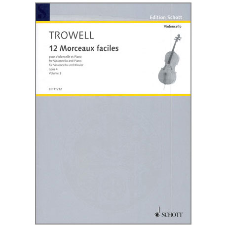 Trowell, A.: 12 Morceaux faciles Op. 4 Band 3 - Nr. 7-9