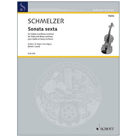 Schmelzer, J. H.: Sonata sexta A-Dur