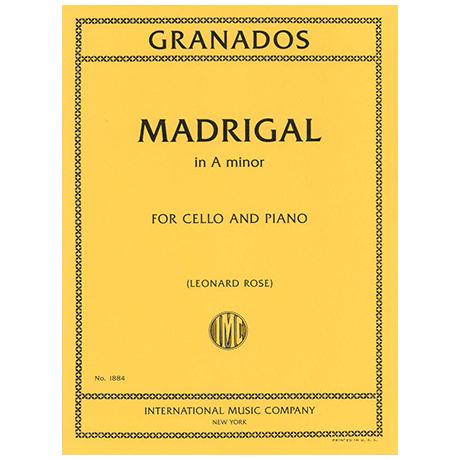 Granados, E.: Madrigal in a-moll