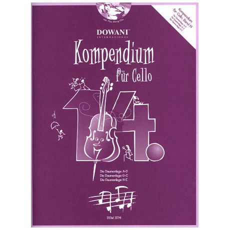 Kompendium für Cello - Band 14 (+ 2 CD's)