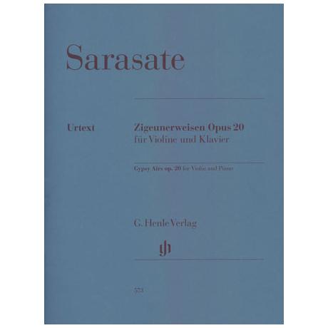 Sarasate, P. d.: Zigeunerweisen Op. 20