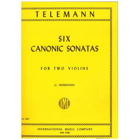 Telemann, G.Ph.: 6 kanonische Sonaten