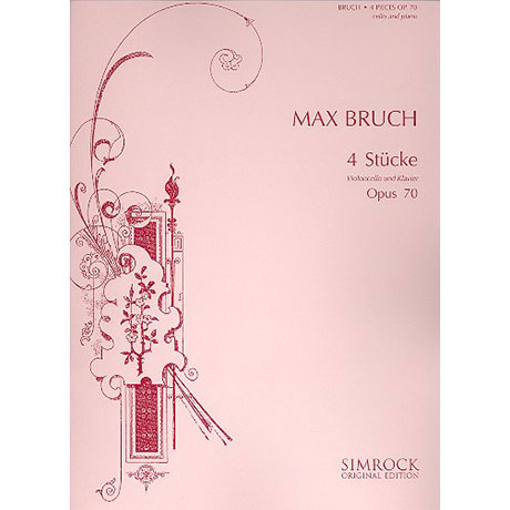 Bruch, M.: 4 Stücke Op. 70