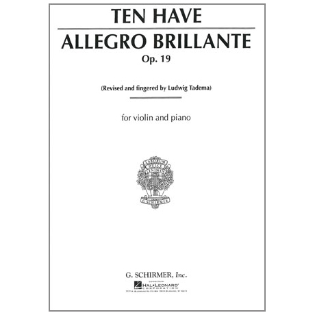 Ten Have, W.: Allegro Brillante Op. 19