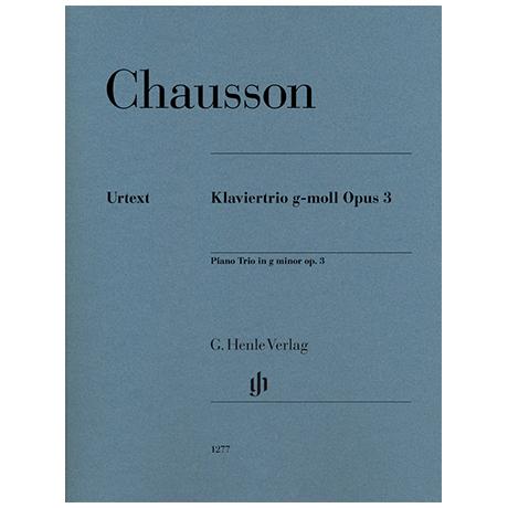 Chausson, E.: Klaviertrio Op. 3 g-Moll