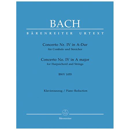 Bach, J. S.: Cembalokonzert Nr. 4 BWV 1055 A-Dur