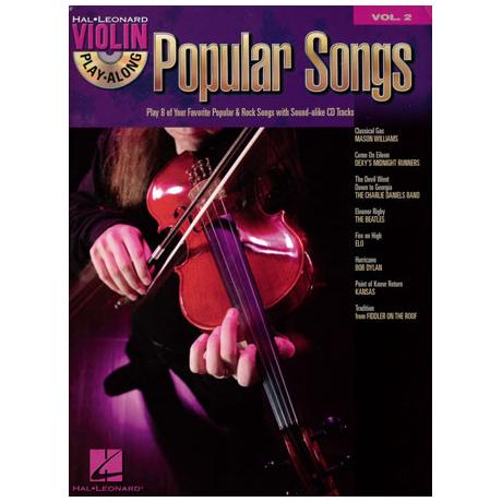Violin Play-Along Vol.2: Popular Songs (+CD)