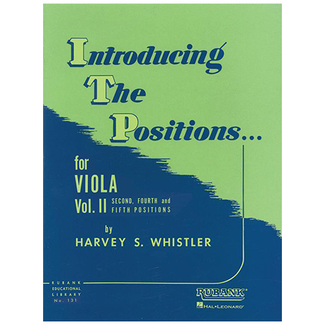 Whistler, H. S.: Introducing the Positions for Viola Vol. 2